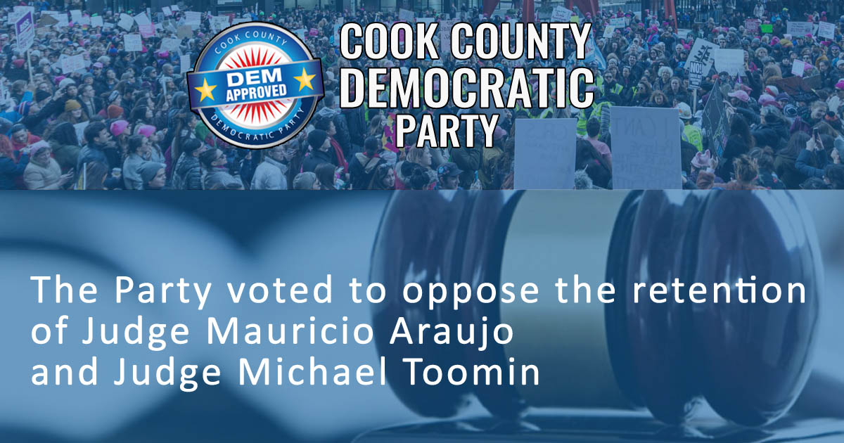 Cook County Democratic Party Votes to Withhold Support From Two Judges in the General Election